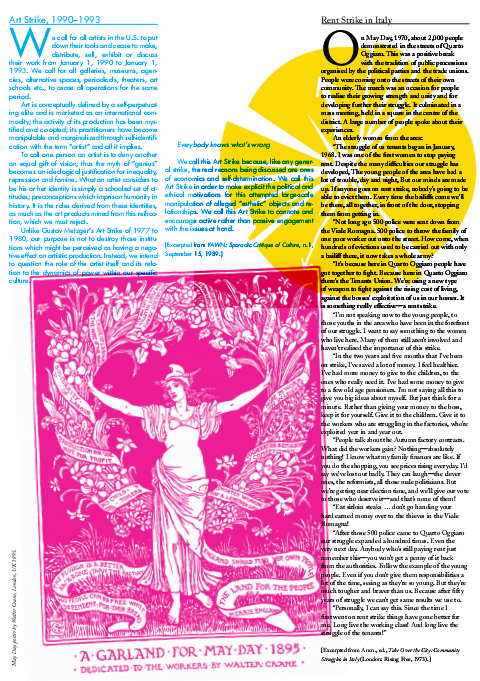 May Day Broadsheet