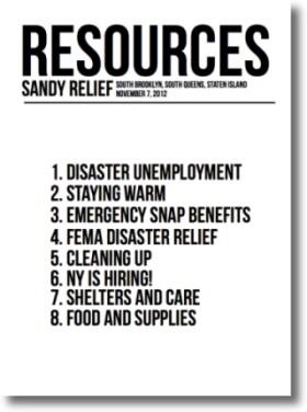 Sandy Relief Resources